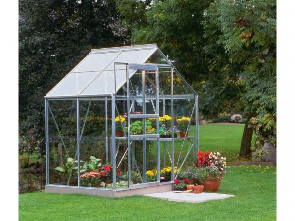 Halls Popular Toughened Glass 4 x 6ft Greenhouse with Base