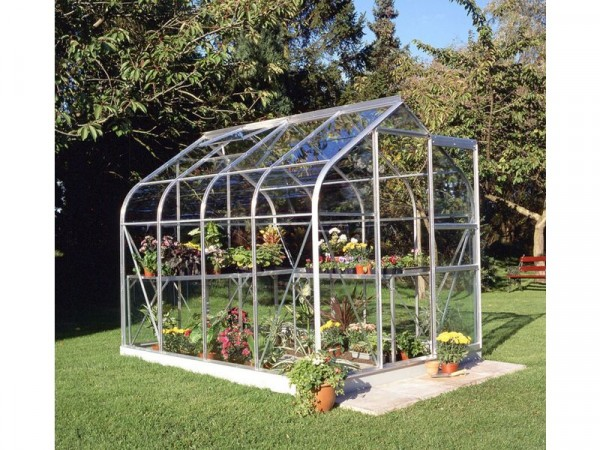 Halls Supreme Toughened Glass 8 x 6ft Greenhouse with Base