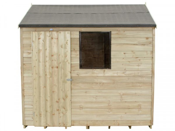 8X6 OVERLAP REVERSE APEX SHED ASSEMBLED