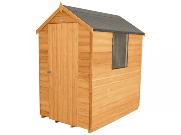 OVERLAP APEX SHED 6X4 WITH BASE