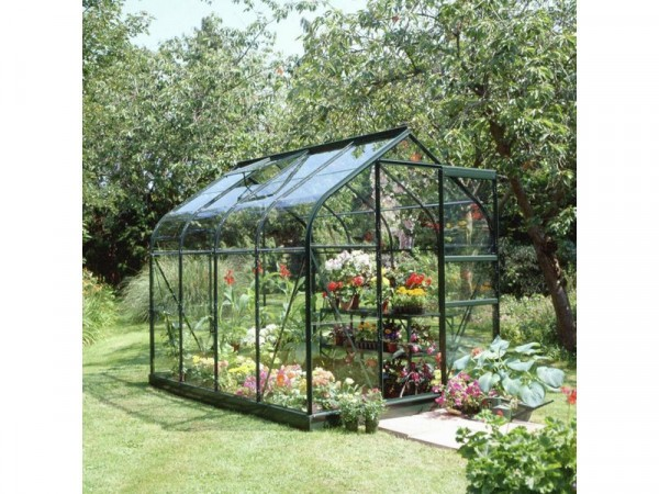 Halls Supreme Glass 8 x 6ft Greenhouse with Base