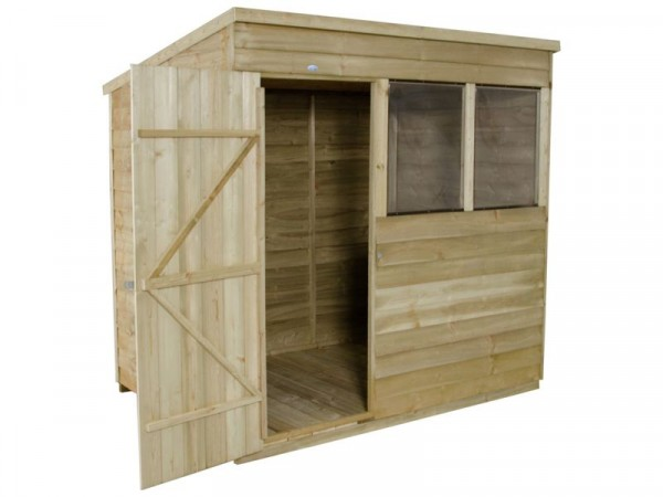 7X5 OVERLAP PENT SHED WITH BASE