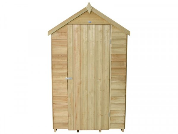Forest Overlap Wooden Windowless Shed - 4 x 6ft