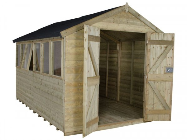 12X8 T G PTR APEX SHED