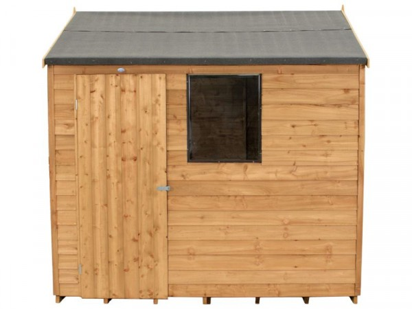 OVERLAP REVERSE APEX 8X6 SHED WITH BASE