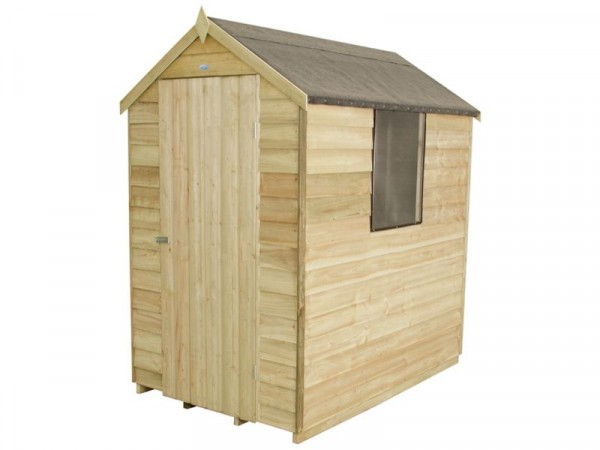 Forest Overlap Apex 4 x 6ft Shed
