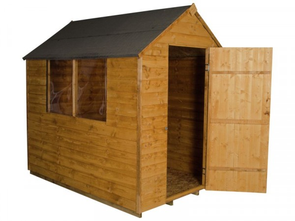Forest Essential Overlap Wooden Shed - 5 x 7ft