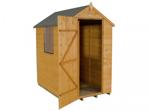 4X6 SHIPLAP APEX SHED ASSEMBLED