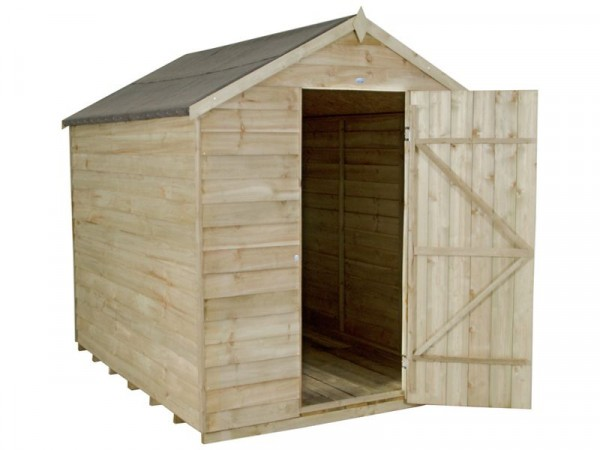 6X8 OVERLAP APEX SHED NW ASSEMBLED