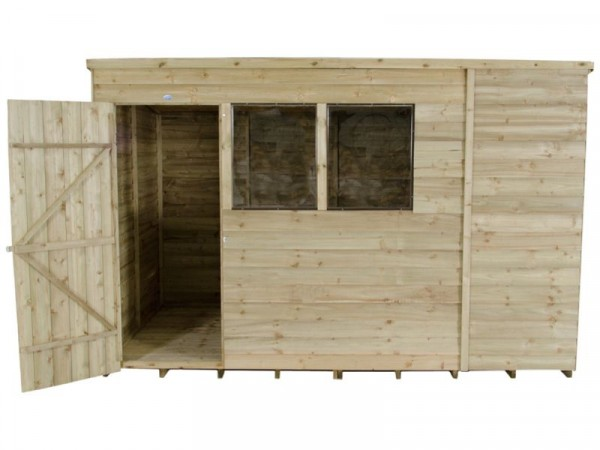 Forest Overlap Wooden Shed - 10 x 6ft
