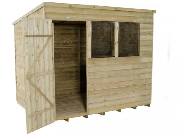8X6 OVERLAP PTR PENT SHED WITH BASE
