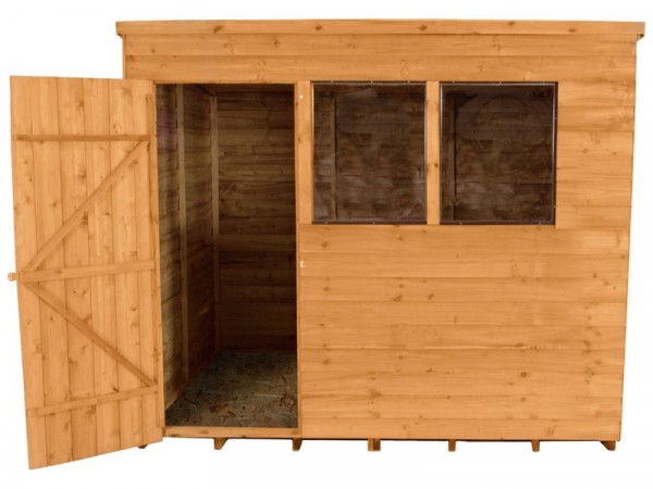 8X6 OVERLAP PENT SHED WITH BASE