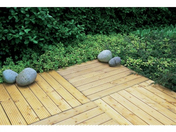 Forest Decking Tiles 60 x 60 cm - Pack of 4