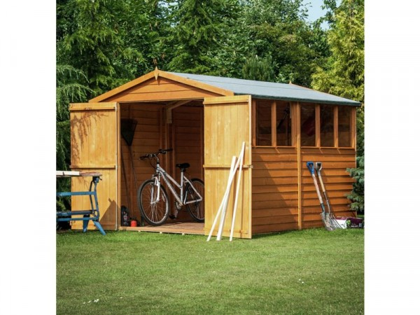Homewood Overlap Wooden Double Door Shed - 12 x 6ft