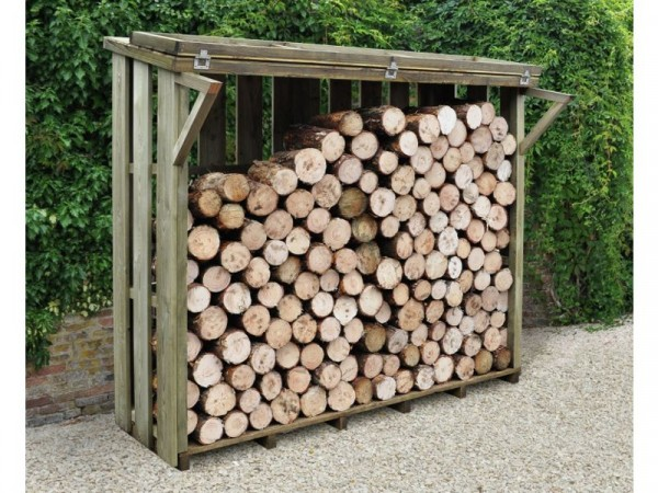 Forest Large Flip Lid Log Store - 7 x 4 ft