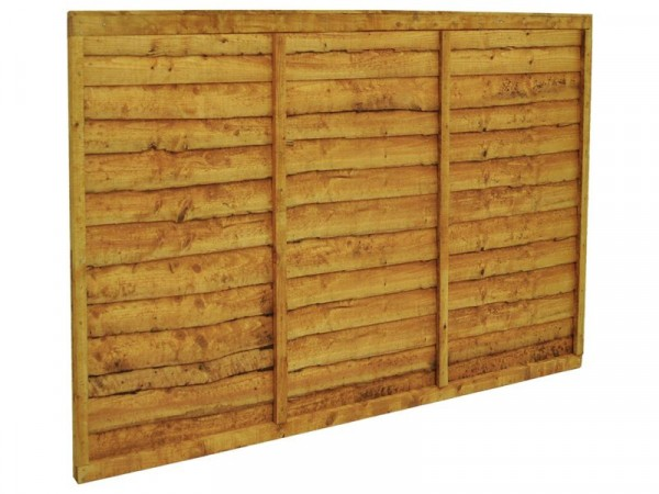 Forest Larchlap Closeboard Fence Panel - Pack of 4