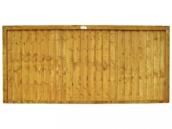 Forest 0.9m Larchlap Closeboard Fence Panel - Pack of 3