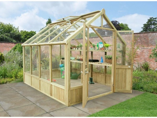 Forest Wooden Vale Greenhouse 10 x 8ft Includes Installation