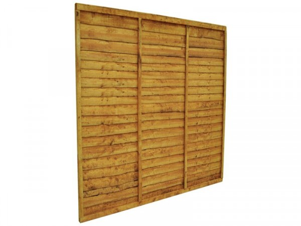 Forest Garden 1.8m Larchlap Fence Panel - Pack of 4
