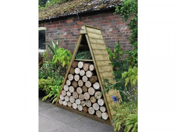 Forest Pinnacle Shiplap Apex Log Store - 5 x 2 ft