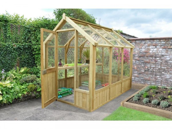 Forest Wooden Vale Greenhouse 8 x 6 ft Includes Installation