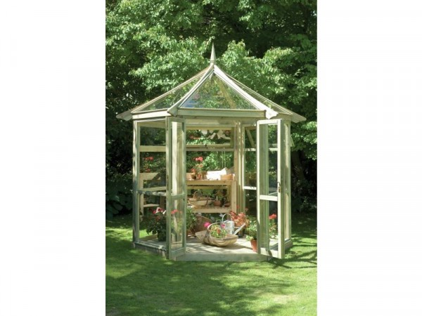 Forest Wooden Glasshouse - 6 x 6 ft
