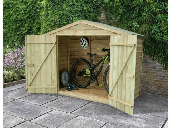 Forest Pressure Treated Wooden Bike Store - 7 x 3ft