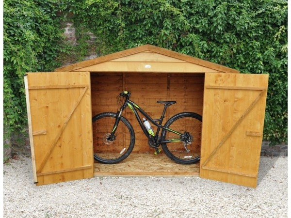 Forest Larchlap Wooden Bike Store - 7 x 3ft