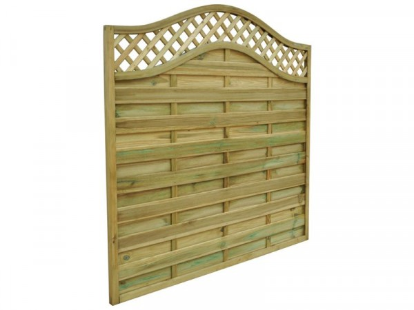 Forest 1.2m Prague Wave Top Lattice Fence Panel - Pack of 5