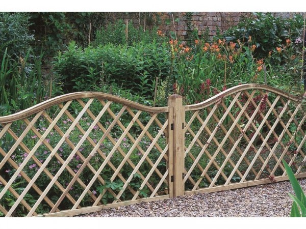 Forest 0.9m Hamburg Screen Fence Panel - Pack of 4
