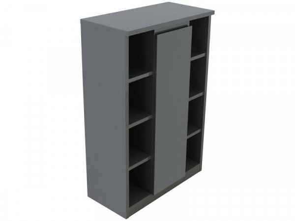 Argos Home Gloss Console Storage Cabinet - Grey