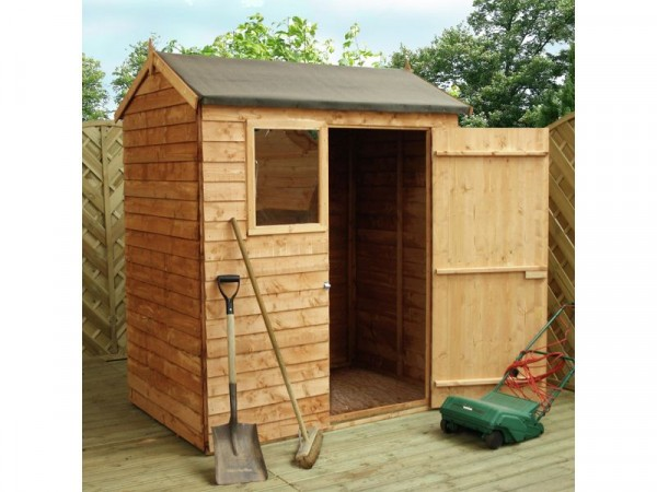 Mercia Wooden 6 x 4ft Overlap Reverse Apex Shed