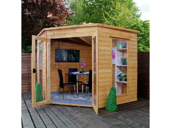 Mercia Corner Shiplap 8 x 8 Summerhouse