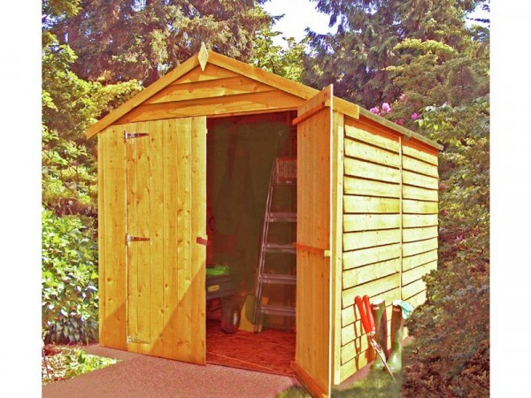 Homewood Wooden 8 x 6ft Overlap Double Door Shed