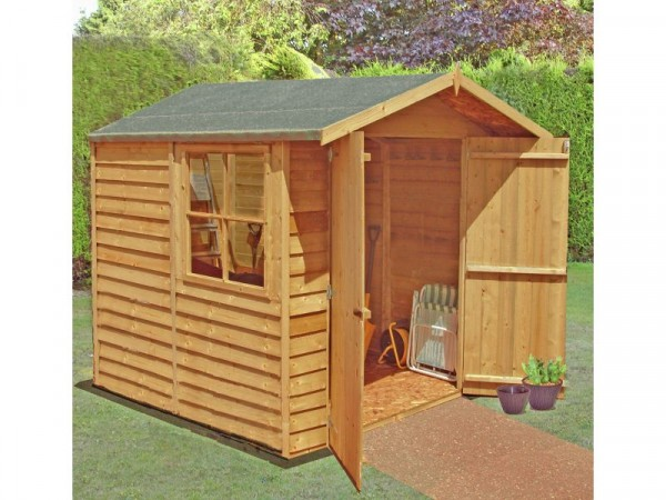 Homewood Wooden 7 x 7ft Overlap Double Door Shed