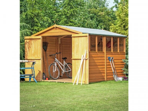 Homewood Overlap Double Door Wooden Shed 10 x 6ft
