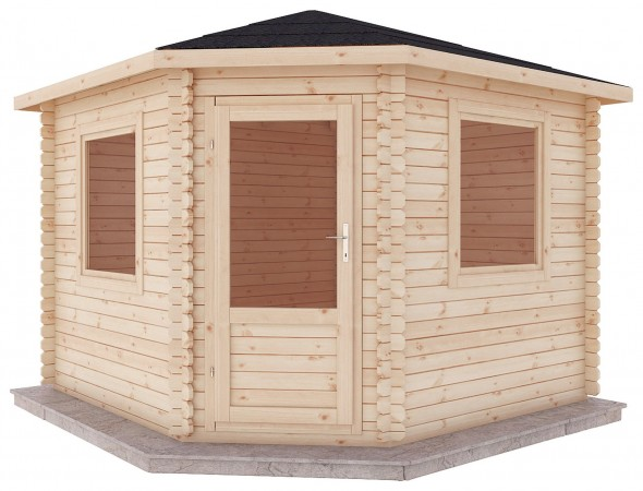 Mercia 3m x 3m Corner Log Cabin