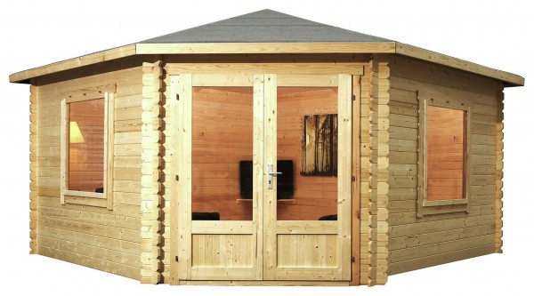 Mercia 4m x 4m Corner Log Cabin
