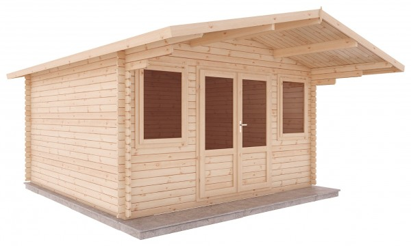 Mercia 4m x 4m Haven Log Cabin