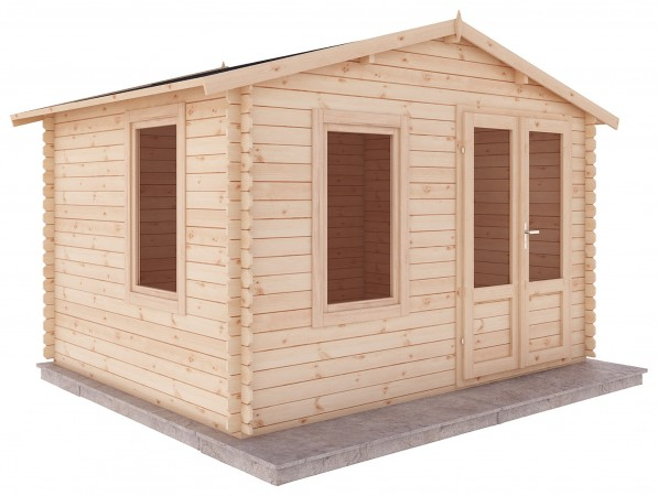 Mercia 3.3m x 2.6m Garden Log Cabin