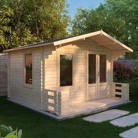 Mercia 3.3m x 3.4m Log Cabin