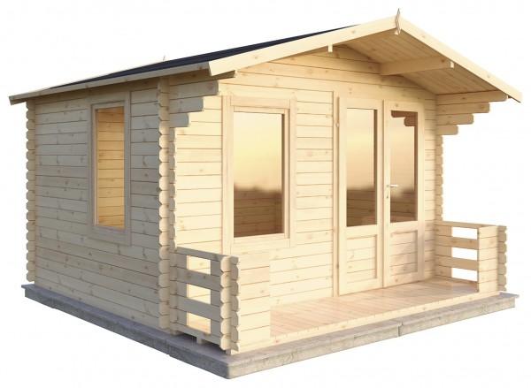 Merica 3.7m x 3.3m Veranda Log Cabin