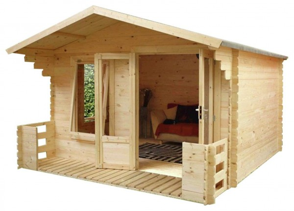 Mercia 2.7m x 2.5m Veranda Log Cabin
