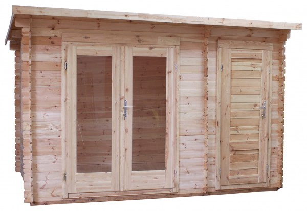 Mercia 3.5m x 2.4m Pent Log Cabin