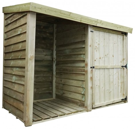 Mercia Garden Products 3ft x 7ft Pressure Treated Log Store