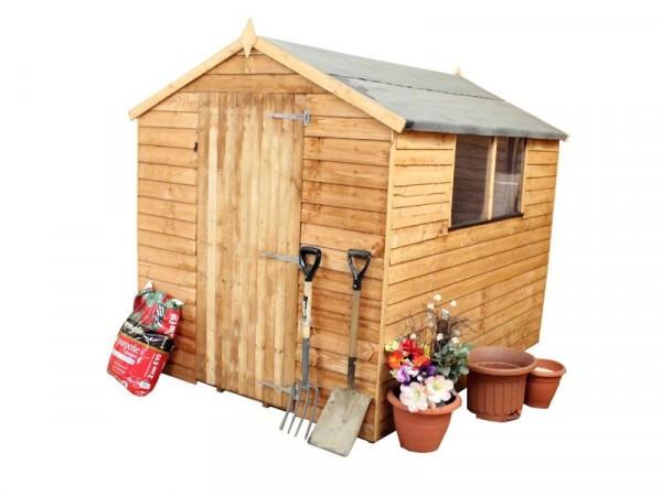 Mercia Wooden 8 x 6ft Overlap Garden Shed
