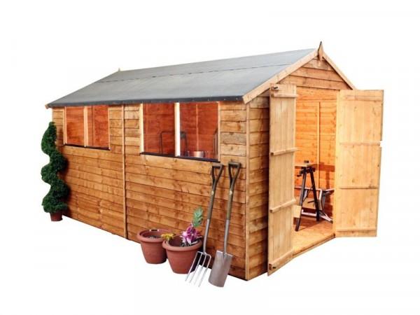 Mercia Wooden 10 x 8ft Overlap Garden Shed