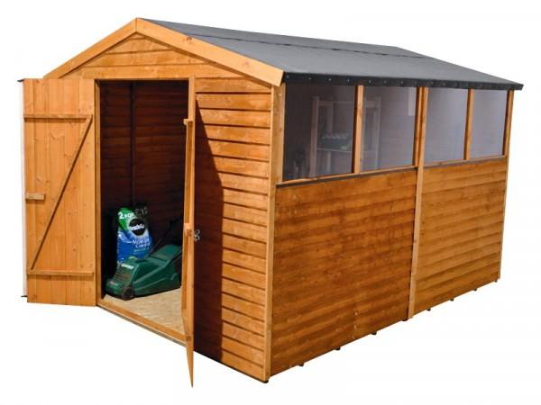 Mercia Wooden 12 x 8ft Overlap Garden Shed