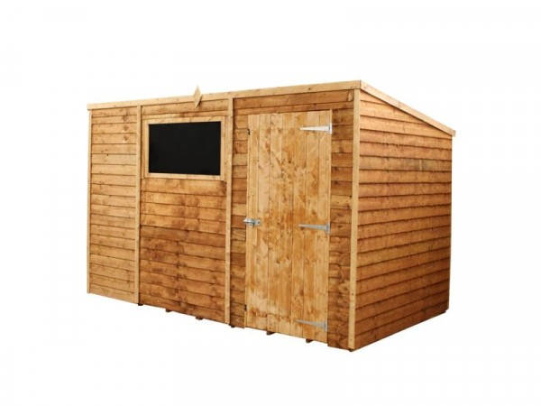 Mercia Wooden 10 x 6ft Overlap Garden Shed