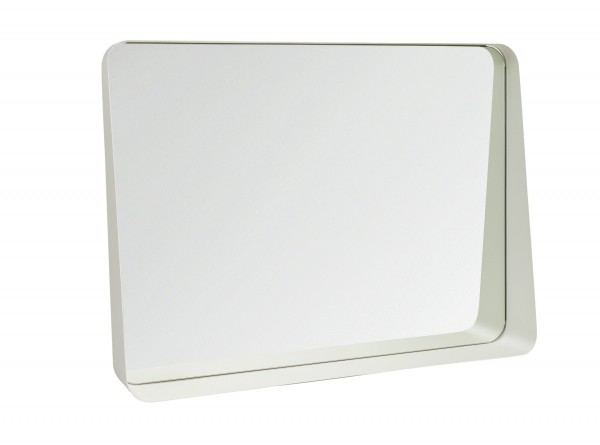 Hygena Aquarius Shelf Mirror - White